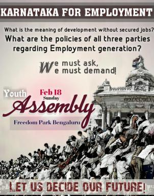 Youth Assembly on Feb 18 @ Freedom Park by 'Karnataka for